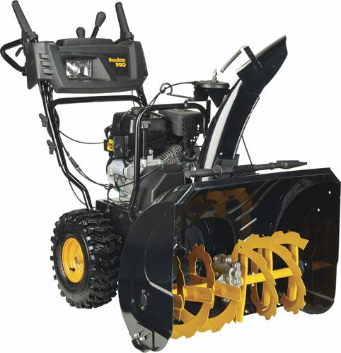 Menards Snow Blowers >> Poulan Pro 27 254cc Two Stage Gas Snow Blower With Electric Start