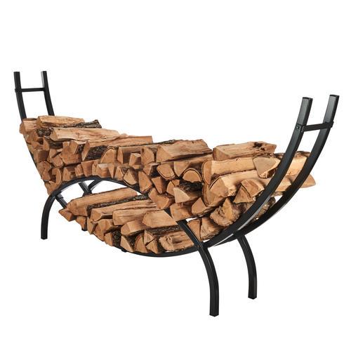decorative indoor firewood rack outdoor fireplace wood.htm shelter 96  firewood crescent log rack at menards    firewood crescent log rack at menards