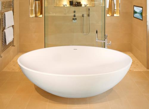 Hydro Massage Chloe 67 W X 37 D X 22 H White Freestanding Bathtub With Center Drain At Menards