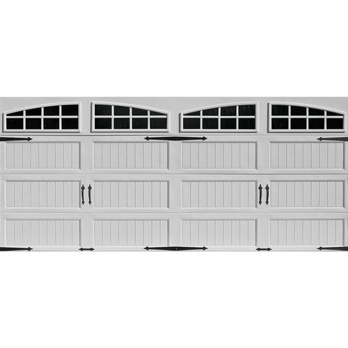 Ideal Door Designer 16 X 7 White Insulated Garage With Windows
