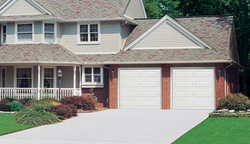 9x8 garage doorIdeal Door EZSET 4Star 9 x 8 White Ranch Panel Insulated