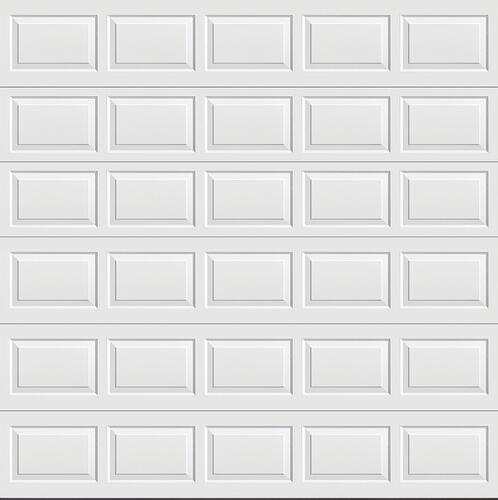 Ideal Door Traditional White Non Insulated Garage Door At Menards