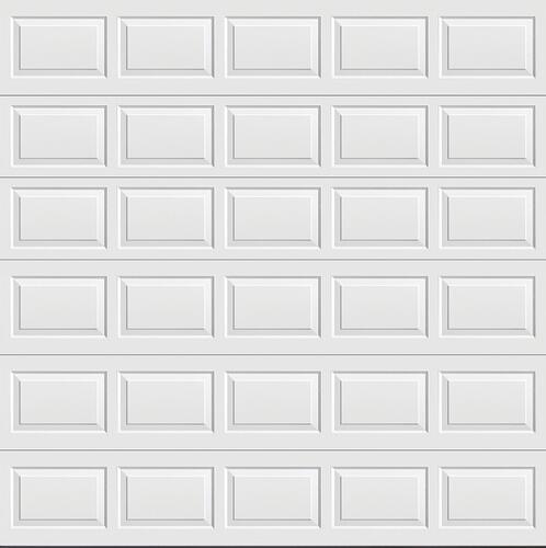 Ideal Door Traditional White Non Insulated Garage Door At Menards