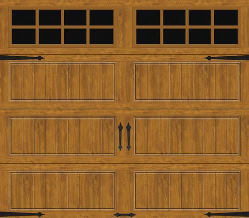 Ideal Door 174 Designer Oak Medium Insulated Garage Door With