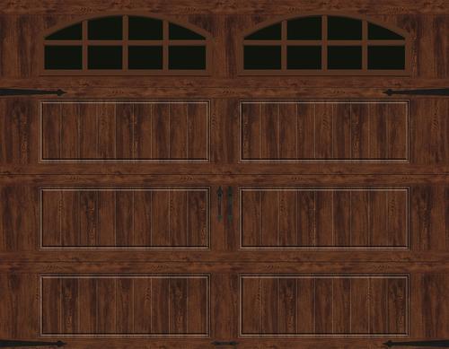 Ideal Door 174 Designer Oak Walnut Insulated Garage Door With