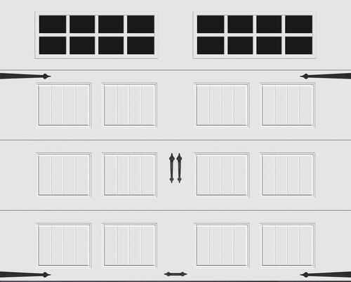 Ideal Door Designer White Insulated Garage Door With Windows At Menards