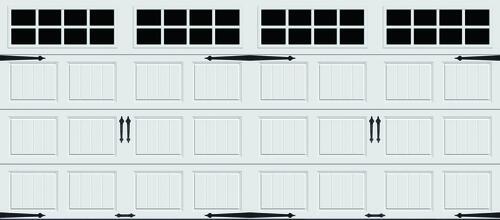 Ideal Door Designer 16 X 7 White Insulated Garage With Windows