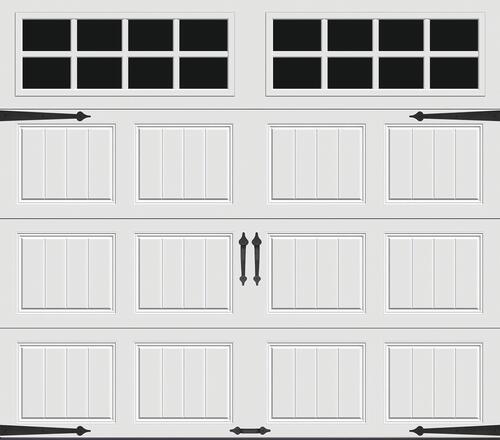 Ideal Door Designer White Insulated Garage Door With Windows At Menards