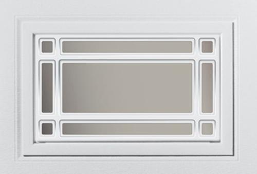 Ideal Door Overhead Garage White Design Insert Short Panel At Menards