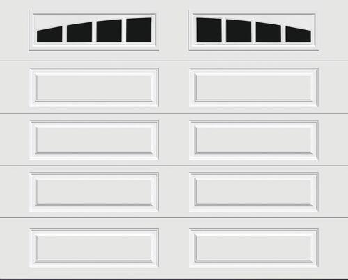 Ideal Door Traditional White Insulated Garage Door With Windows At Menards