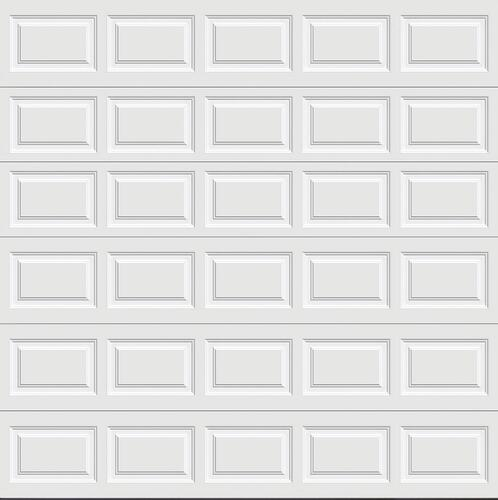 Ideal Door Traditional White Insulated Garage Door At Menards