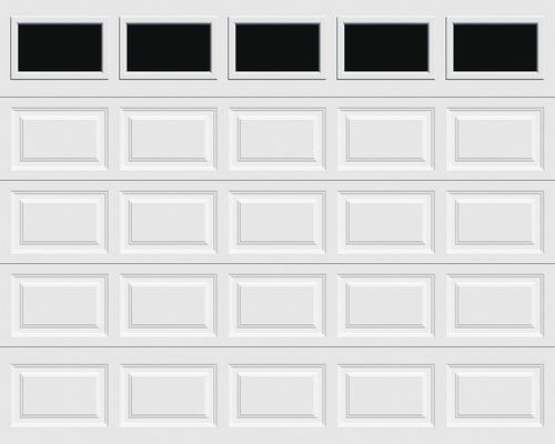Ideal Door 174 Traditional White Insulated Garage Door With