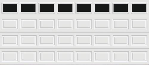 Ideal Door Traditional White Insulated Garage Door With Windows At Menards