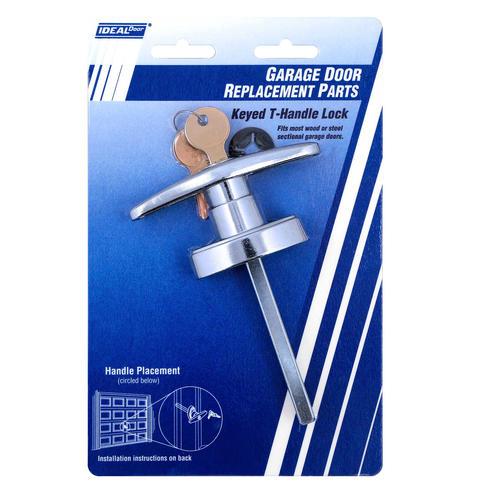 Ideal Door Side Keyed T Handle Lock For Overhead Garage Doors At