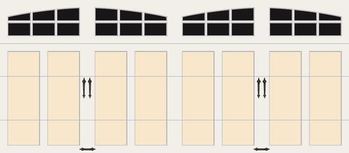 Ideal Door 174 Premium Almond Wh Overlay Insulated Garage