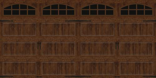Ideal Door 174 Designer Oak Walnut Insulated Garage Door With