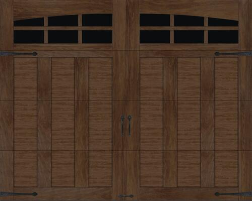 Ideal Door Premium Walnut Insulated Garage Door With Windows At Menards