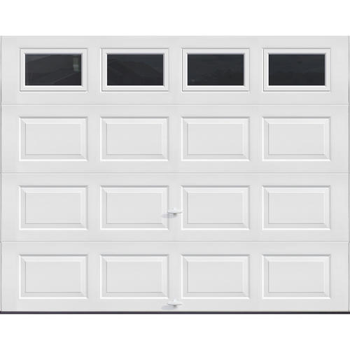 Ideal Door Traditional White Insulated Garage Door With Windows At