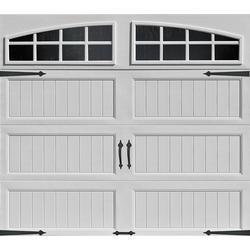 ideal door designer white insulated garage door with windows at menards - Garage Doors Menards