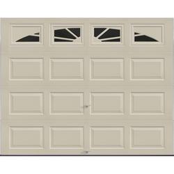 Ideal Door Traditional Desert Tan Insulated Garage With Windows