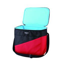 12 Can Soft Side Cooler Storage with Removable Plastic Hardliner Insert Black