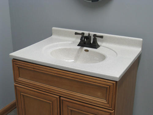 Imperial 49 Wide X 22 Deep Recessed Center Oval Bowl Vanity Top At Menards