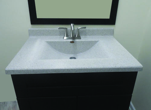 Imperial 49 W X 22 D Ventana Cultured Marble Vanity Top With Wave Bowl At Menards