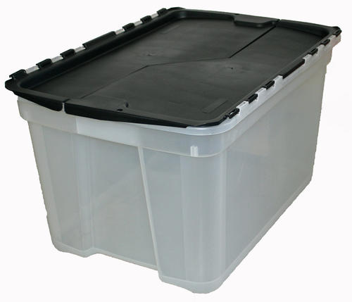 Incredible Solutions 15 Gallon Clear Storage Bin With Flip Top Lid