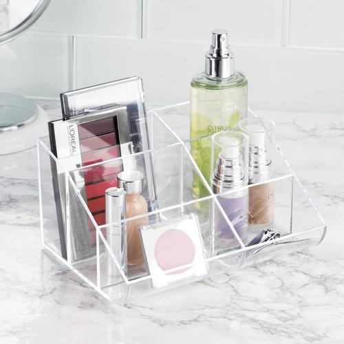 bathroom vanity tray decor.htm interdesign clarity clear cosmetic vanity tray organizer at menards    clear cosmetic vanity tray organizer