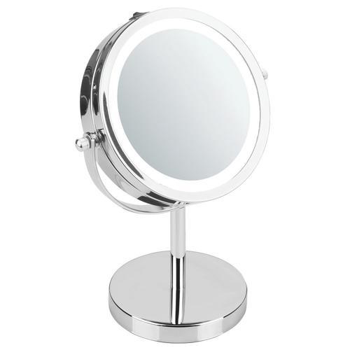 Interdesign 10 Chrome Lighted Freestanding Magnifying Makeup Mirror 2x Magnification At Menards