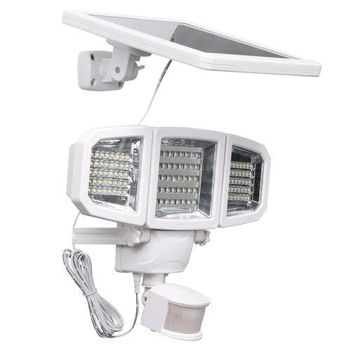 Patriot Lighting® White Integrated LED Triple Head Solar