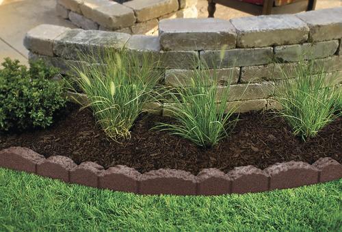 Lasting Beauty 4 Brown Rubber Cobblestone Landscape Edging At Menards
