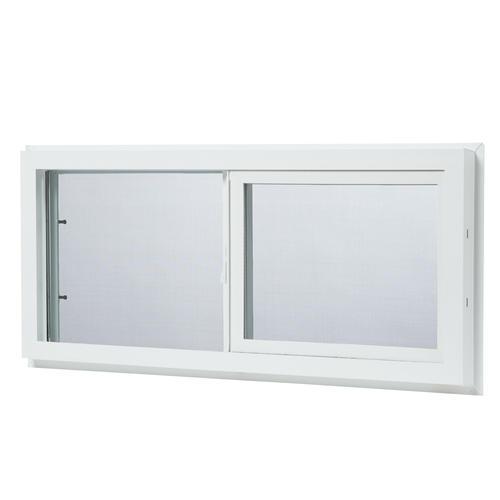 ips 32 white vinyl single sliding basement window at menards rh menards com menards basement storm windows menards basement storm windows