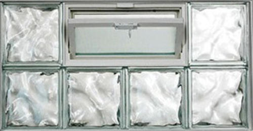 Ips Glass Block Window With Hopper Vent Wave Pattern At Menards
