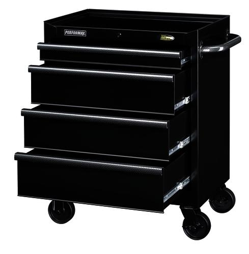 "performax® 27"" black 4-drawer mobile tool cabinet at menards®"