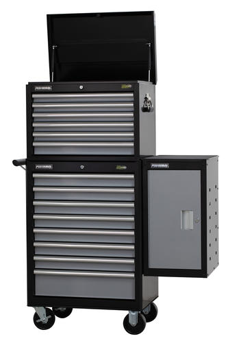 "performax® 15 x 18"" silver 2-shelf side locker at menards®"