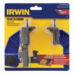 x2 Irwin Q//G1988934 Quick-Grip Deck Clamp Accessory Kit Decking Spacer 1988934