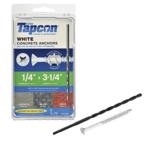 "1//4/""x3-1//4/"" Concrete//Masonry Screw Anchors Tapcon 250"