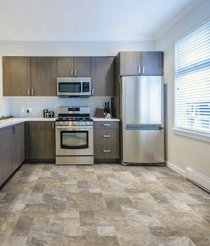 Care Free Sheet Vinyl Flooring Is Perfect For Kitchens It: Mohawk® Force Sheet Vinyl Flooring 12 Ft. Wide At Menards®