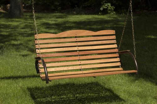 Backyard Creations Hardwood Porch Swing At Menards