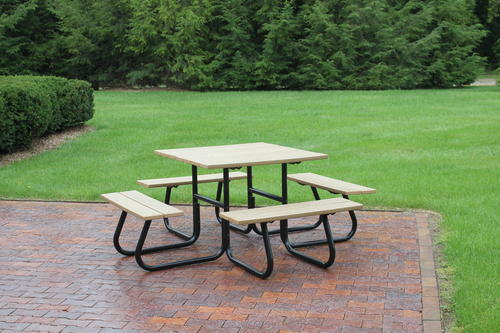 Backyard Creations Sided Picnic Table Frame Only Kit At Menards - Tubular picnic table frame