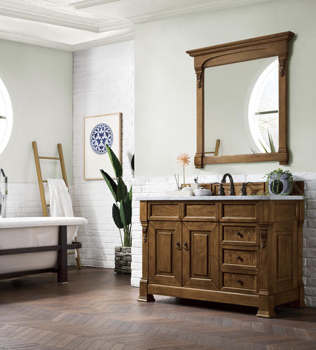 James Martin Brookfield 48 W X 23 5 Country Oak Bathroom