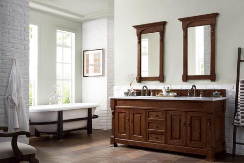 James Martin Brookfield 72 W X 23 5 D Warm Cherry Bathroom