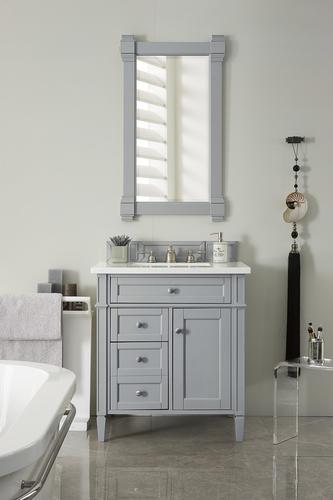 James Martin Brittany 28 75 W X 23 D Urban Gray Bathroom Vanity Cabinet At Menards