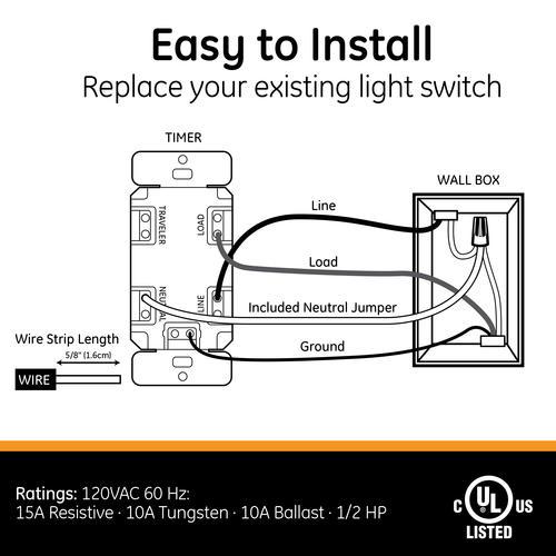 GE 15-Amp White Direct Wire Digital Timer at Menards®Menards