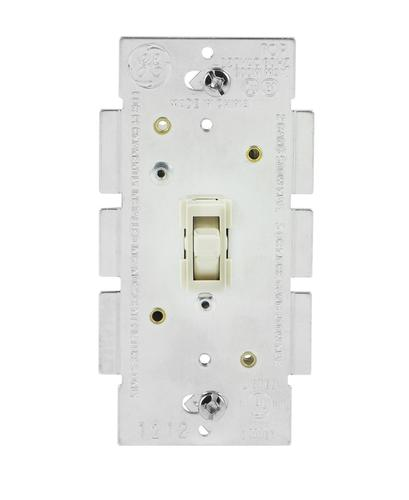 Bulbs, Light Dimmable LED Wall Switch Single Pole Toggle Dimmer Almond CFL