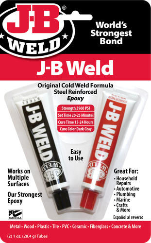 J B Weld Dark Gray Original Steel Reinforced Cold Weld Epoxy 2 Oz