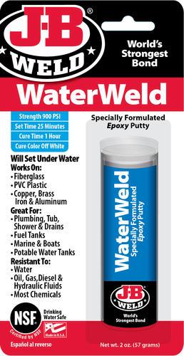 J-B Weld® WaterWeld White Epoxy Putty 2 oz at Menards®