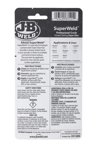 J-B Weld® SuperWeld™ Super Glue - 20g at Menards®