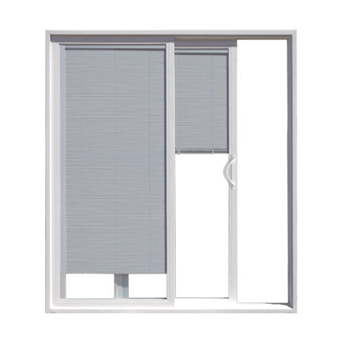 JELD-WEN Builders Series White Vinyl Right Hand Sliding Patio Door with  Blinds-between-the-Glass at Menards® - JELD-WEN Builders Series White Vinyl Right Hand Sliding Patio Door